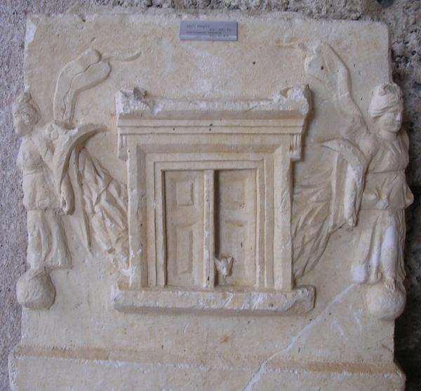 Detail van een sarcofaag uit Side