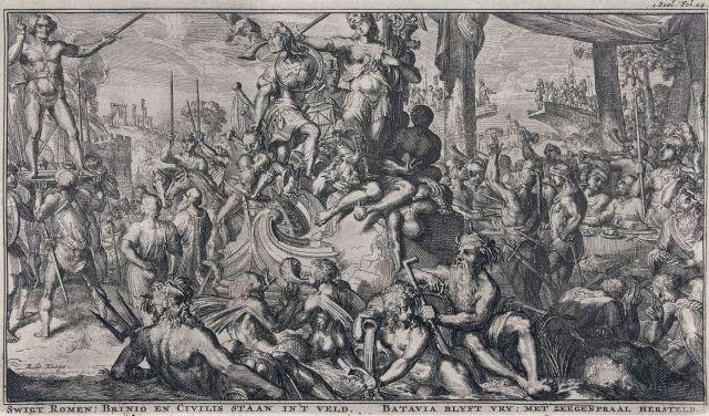 Romeyn de Hooghe: Allegorie rond de Bataafse Opstand
