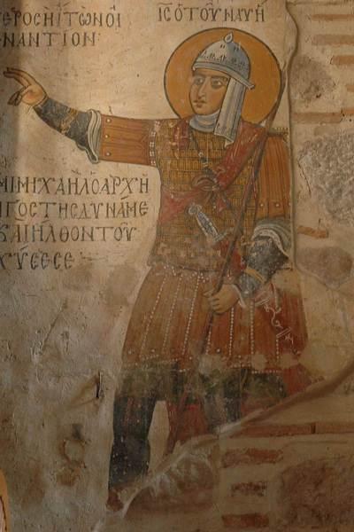 Byzantijnse soldaat, tiende eeuw (Hosios Loukas, Griekenland)