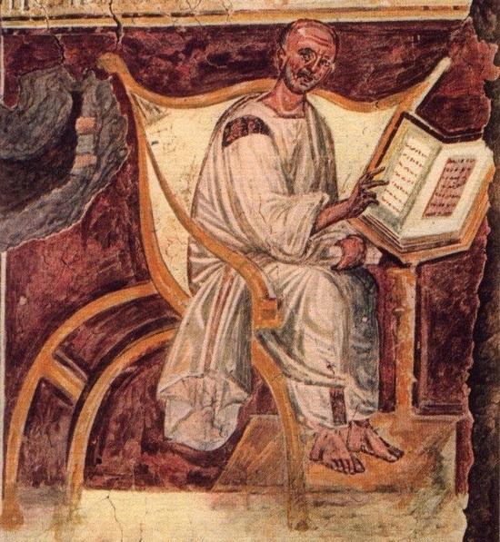 De oudste afbeelding van Augustinus (Lateraan).