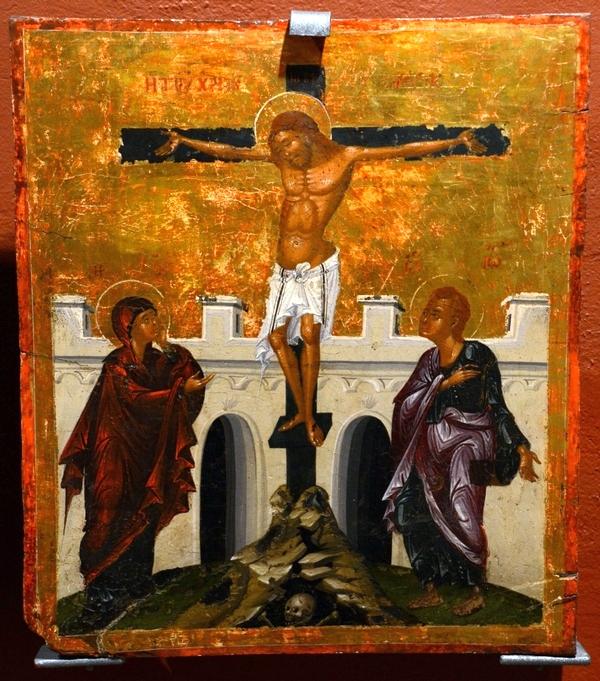 Bij gebrek aan paas-ikoon geef ik u een ikoon die goede vrijdag voorstelt. Heilig Kruis-klooster, Omodos.