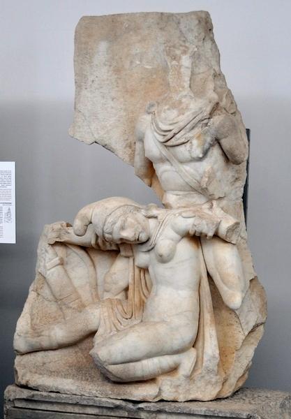 Nero onderwerpt Armenië: reliëf uit Afrodisias