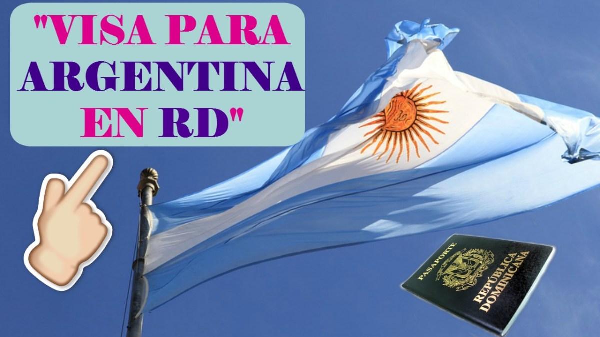 Visa de turísmo para Argentina en RD.