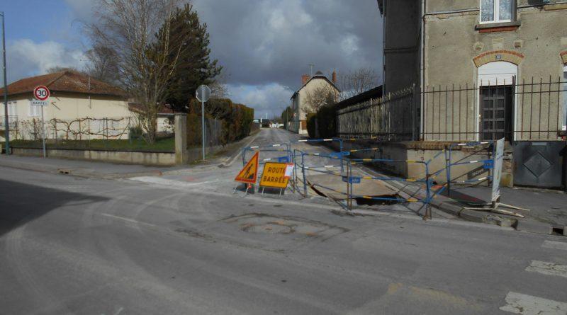 Travaux rue de la Crayère