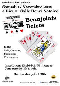 Belote-Beaujolais @ Salle Henry-Notaire | Rieux | Hauts-de-France | France