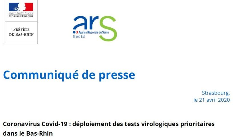 déploiement des tests virologiques