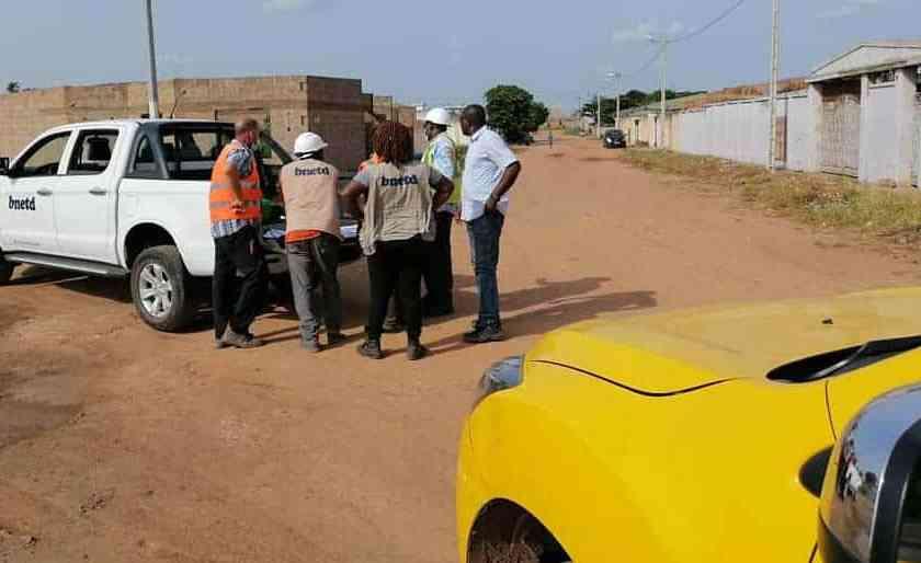 Bitumage de la route Ahougnansou Sicogi-Quartier Zone Industrielle.