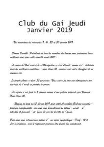 thumbnail of Bulletin de janvier 2019
