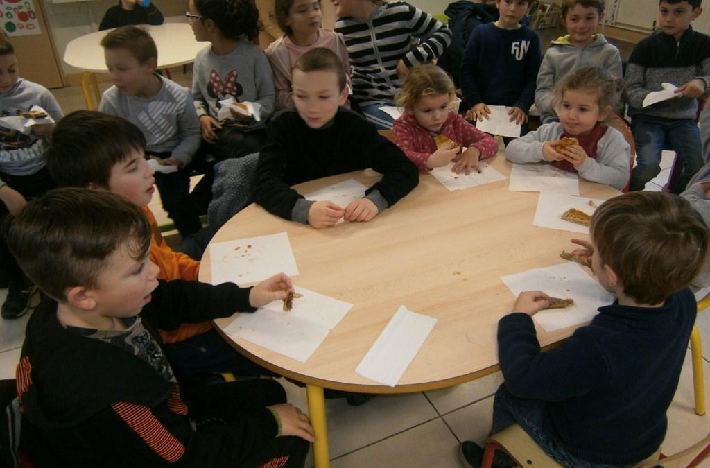 Les enfants de l'école ont élaboré et dégusté de superbes galettes
