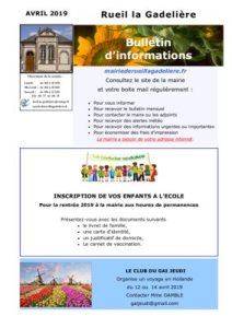thumbnail of Information avril 2019