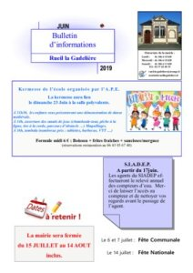 thumbnail of Information juin 2019