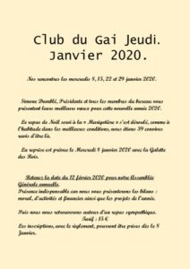 thumbnail of Bulletin janvier 2020