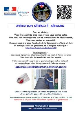 La gendarmerie communique :