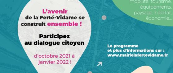 Concertation et étude de revitalisation de La Ferté-Vidame 2021/2022