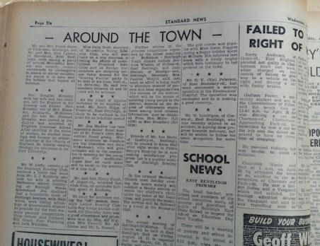 newspaper clipping 1959