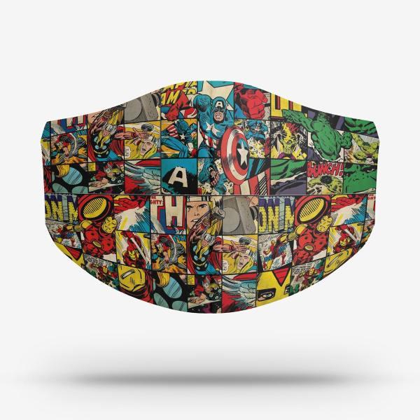 Máscara Quadrinhos Marvel Retrô
