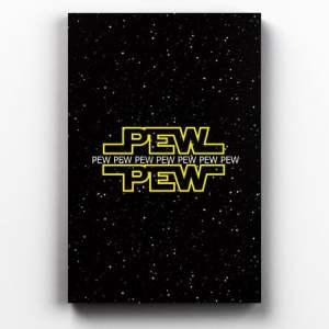 Placa Decorativa de Metal Pew Pew Pew
