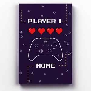 Placa Decorativa de Metal Player1 e Player2 X