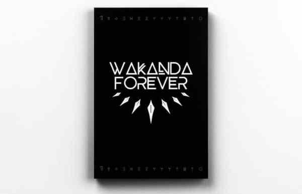Placa Decorativa de Metal Wakanda