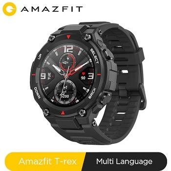 Cupom Banggood! Smartwatch Amazfit T-rex por 72,78€