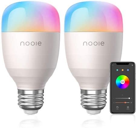 2 lâmpadas LED 10W E27 RGB WiFi desde Espanha por 14,99€*