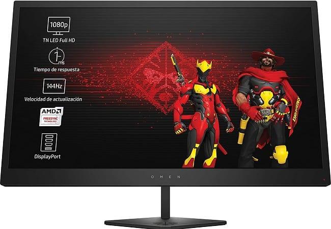"""Super preço! Monitor Gaming HP OMEN Z7Y57AA 25"""" – 1 ms Taxa Actualização 144 Hz mais FreeSync só 169€"""