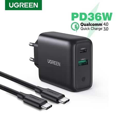 Carregador USB de 36W por apenas 12,83€