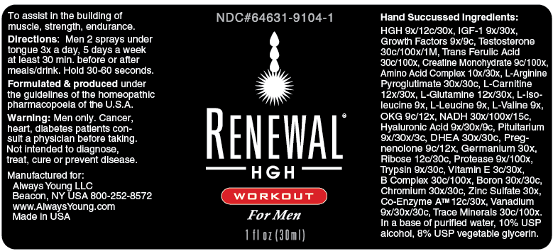 Renewal HGH Workout for Men