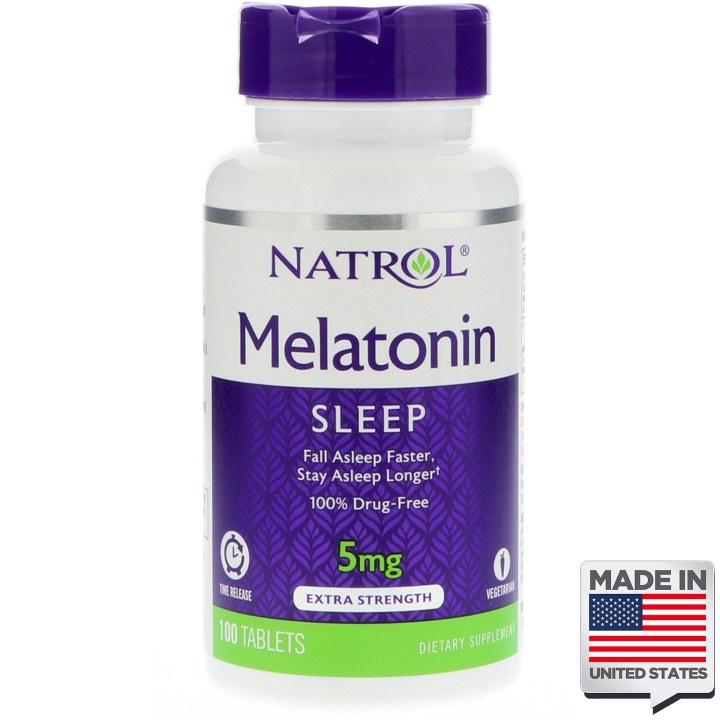melatonina 5mb liberação gradual natrol