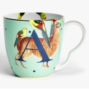 Yvonne Ellen Alphabet Mugs - A
