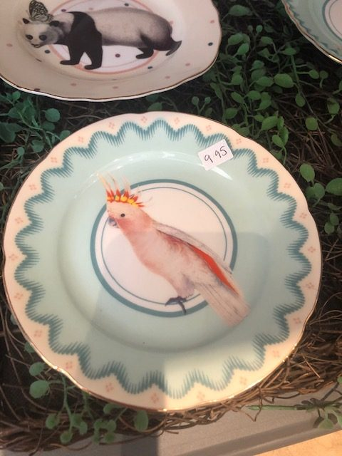 Pretty Pastel Animal Cake Plates, Parrot