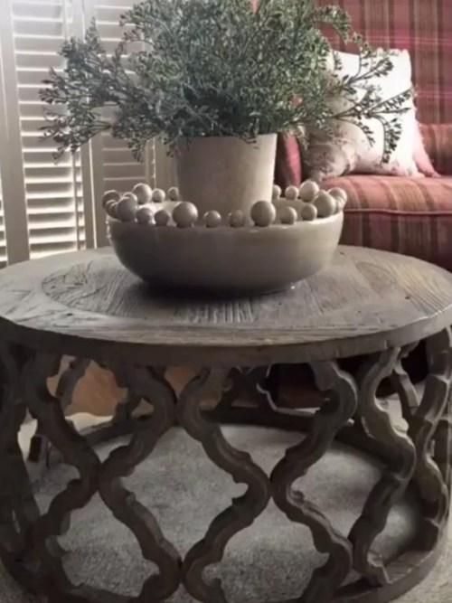 Round Fretwork Coffee Table