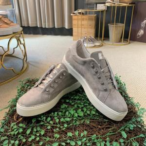 Grey Suede Trainer With Diamanté Detail