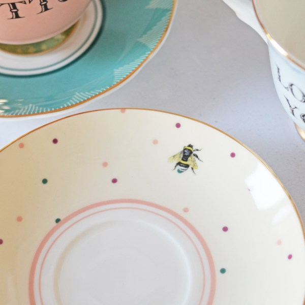 Yvonne Ellen Love You and Ditto Tea Cup & Saucers_Saucer