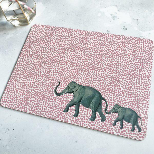 Yvonne Ellen Animal Placemats, Set of 4_Elephant