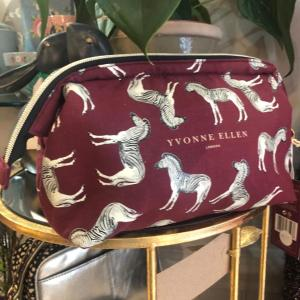 Yvonne Ellen Zebra Cosmetics/Wash Bag