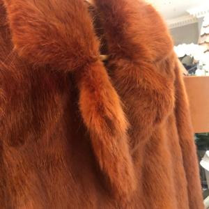 Rino & Pelle 3/4 Length Faux Fur Coat in Rust