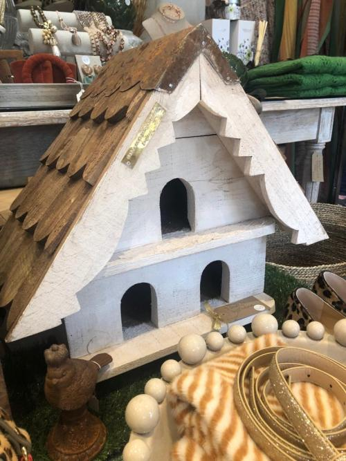 Outside Handmade Wood Dove Cote