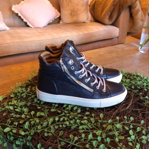 Pedro Costa High Top Trainer in Navy