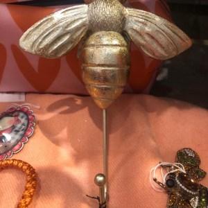Gold Bee Wall Hook