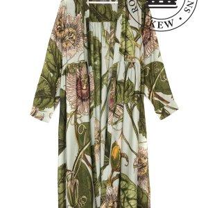 Kew Passion Flower Aqua Duster Coat