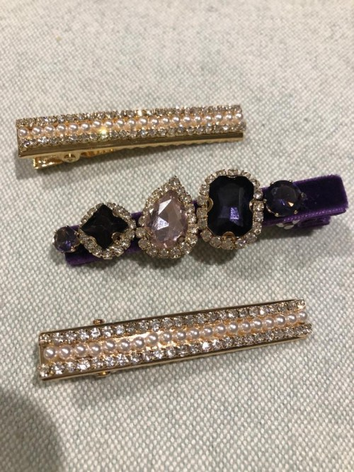 Jewelled Hair Clips