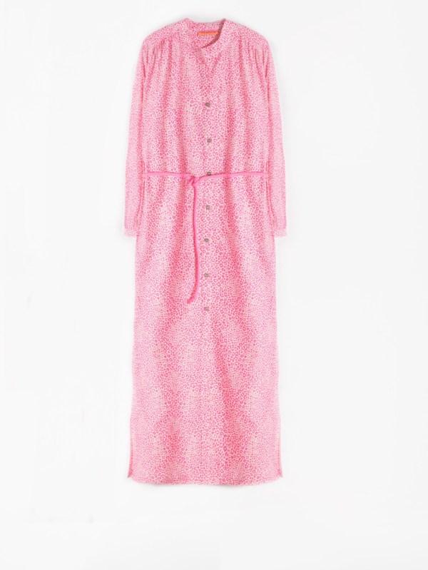 Vilagallo Anett Fucsia Leopard Dress