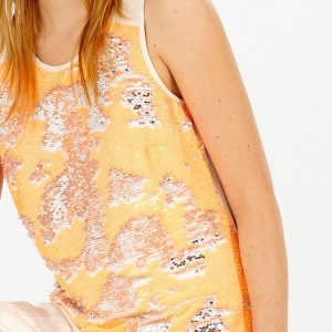 Constance T-Shirt with Orange Sequins