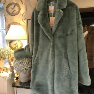 Rino & Pelle Green Faux Fur Coat