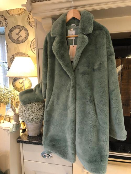 Rino & Pelle Green Faux Fur Coat