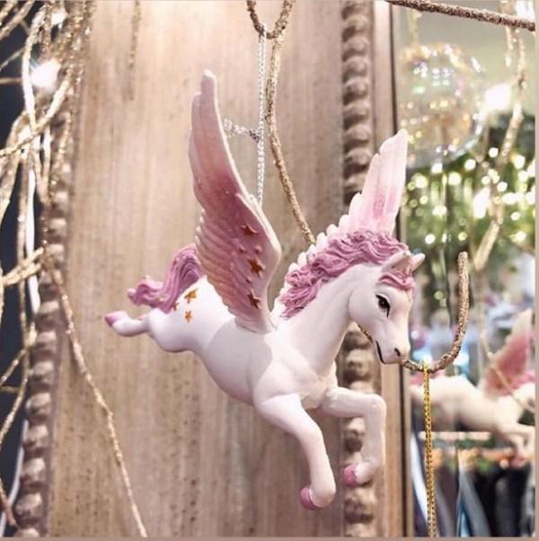 Pink Unicorn Tree Decoration