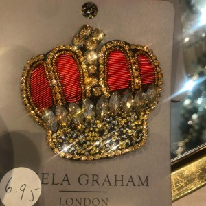 Gisela Graham Crown Brooch