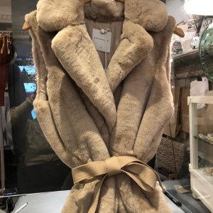 Rino & Pelle Nude Faux Fur Gilet