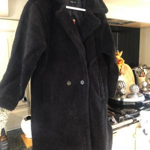 Black Teddy Faux Fur Long Coat
